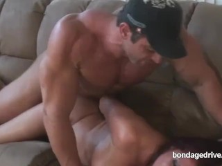 Cougar trussed!! porn video