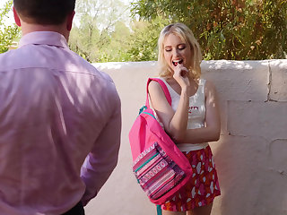 Babe, Blonde, Outdoor, Teacher, Teen, Young